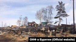 Сожженные бараки в Северобайкальске