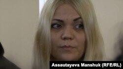 Наталья Слекишина, заключенная и потерпевшая по делу об изнасиловании в СИЗО. Алматы, 30 сентября 2016 года.
