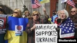 Акція на підтримку України. Нью-Йорк, Березень 2014 року