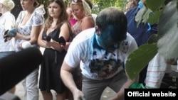 Після одного з попередніх нападів зеленкою на Сергія Власенка, 16 липня 2012 року