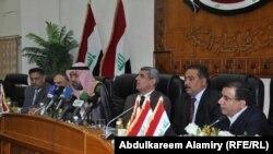 رئيس مجلس محافظة البصرة مع اعضاء لجنة الاقاليم النيابية