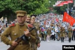 Акция «Бессмертный полк» 9 мая 2017 года в оккупированном Симферополе