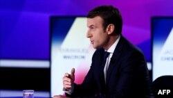 """Emmanuel Macron la emisiunea de joi seară """"15 minute pentru a convinge"""" pe postul TV France 2"""