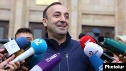 Armenia -- Constituional Court Chairman Hrayr Tovmasian speaks to journalists, Yerevan, December 27, 2019.