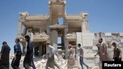 Освобожденные пленники «Исламского государства» в Ракке.