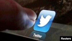 Twitteriň ipad-däki logotipi