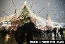 Кызыл аянт, Москва. 2020-жылдын 31-декабры.