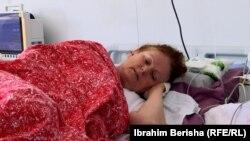 Lulije Qafleshi, e shtrirë në Klinikën Infektive në Prishtinë (19 gusht 2021).