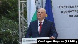 Главният прокурор Иван Гешев по време на речта си