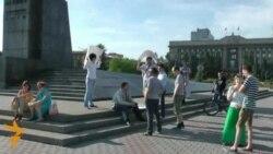 Народный сход в поддержку Навального в Красноярске