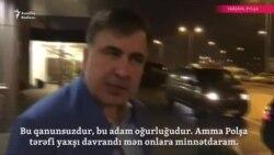 Saakaşvili Varşavada... 'Bu adam oğurluğudur'