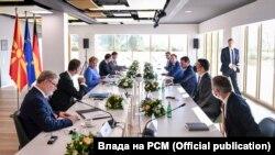 Зоран Заев и Ангела Меркел во Тирана, септември 2021