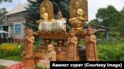 Буддисттерге таандык эстелик. Кыргызстан.