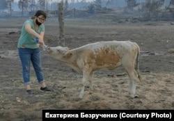 Пепелище на месте якутского села Бясь-Кюёль