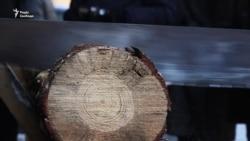 У Києві біля Верховної Ради рубають дрова (відео)