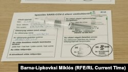 Sinopharm vaccine in a Budapest clinic