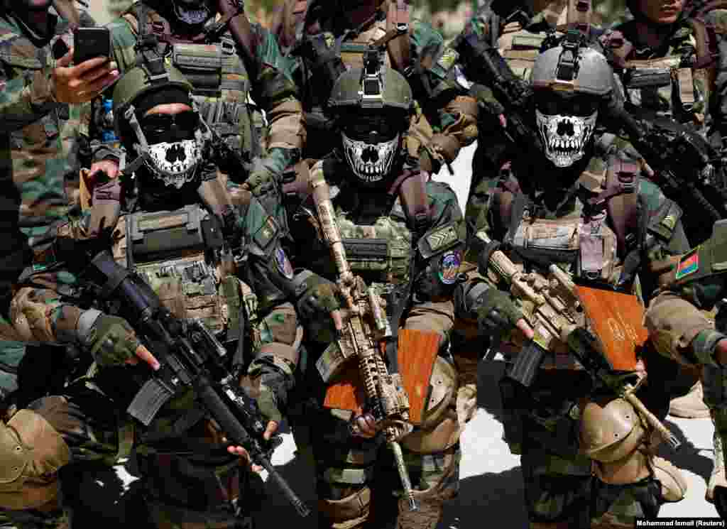 Afghan special forces attend their graduation ceremony in Kabul on June 17. (Reuters/Mohammad Ismail)