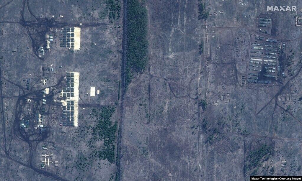 Pamje satelitore nga qendra stërvitore në afërsi të Voronezhit të Rusisë.