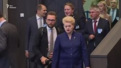 Президенты Грузии и Украины на саммите НАТО