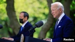 جو بایدن در کنفرانس خبری در کاخ سفید.
