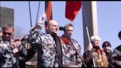 Ukraynanın Donetsk şəhərində rus separatçılarının mitinqi