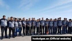 Группа рабочих «Худудгазтаъминот» во время хашара. (Информации о том были ли уволены какие-либо из этих рабочих нет)