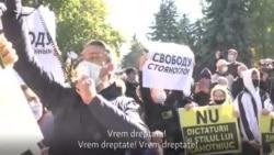 Chișinău: Protestul din fața Parlamentului și contramanifestația de la Președinție