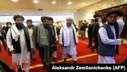 آرشیف، شماری از اعضای دفتر سیاسی گروه طالبان