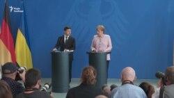 Меркель на зустрічі з Зеленським: санкції щодо Росії будуть збережені – відео