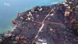 Наслідки лісових пожеж у Греції зняли з дрона