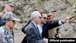 Armenia - Iranian Ambassador Abbas Badakhshan Zohouri visits a section of the Armenian-Azerbaijani border in Gegharkunik province, August 3, 2021.