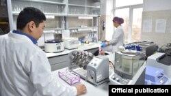 Одна из медицинских лабораторий в Кыргызстане.