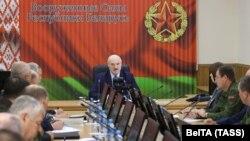 Олександр Лукашенко на нараді в Мінську, 15 серпня 2020 року