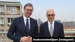 Aleksandar Vučić i Oleg Gruško u Beogradu 18. juna 2021.