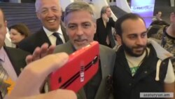George Clooney Attends Yerevan Conference On Genocide Prevention