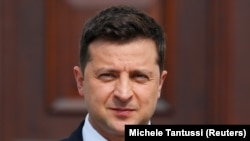 Președintele Ucrainei, Volodimir Zelenski (foto arhivă).