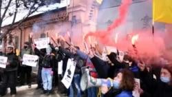 Одеса: активісти привітали Стерненка з днем народження (відео)