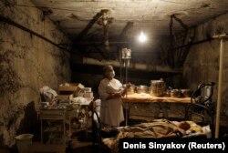 Медпункт в подвале жилого дома в Южной Осетии. 10 августа 2008 г.