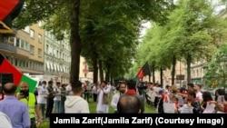سویډن کې د افغانانو مظاهره
