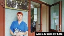 Вдова пилота Анастасия Ахметова