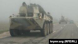 Российская военная техника на улицах Крыма. 2021 год (фотогалерея)