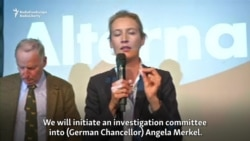 AfD Pledges To Change Germany, Investigate Merkel