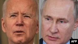 Джо Байден и Владимир Путин (коллаж)