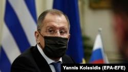 Sergey Lavrov Afina görüşündə
