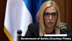 Ministrja serbe e Drejtësisë, Maja Popoviq.