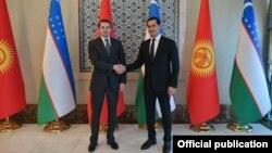 Встреча и. о. премьер-министра Артема Новикова с заместителем премьер-министра Узбекистана Сардором Умурзаковым. Декабрь 2020 года.