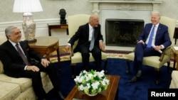 Afghan leaders meet with U.S. President Joe Biden at the White House.