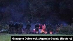 Мигранты на границе Польши и Беларуси