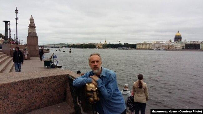 Иеромонах Иоанн в отпуске в Санкт-Петербурге