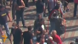Suspected Grenade Thrower In Kyiv Caught On Camera